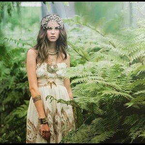 Anthropologie strapless linen dress